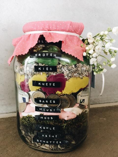 Hochzeitsgeschenk Ein Glas Voll Geld